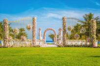 花卉草坪结婚布置