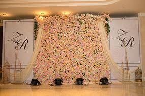 婚礼背景场布