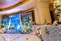 婚礼舞台迎宾区
