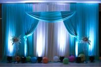 婚庆蓝色舞台