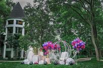 户外气球婚礼布置