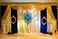 金色婚礼背景