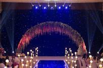 蓝色婚礼背景
