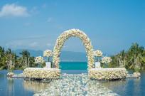水中花卉婚礼