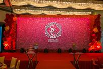 新婚红色舞台背景