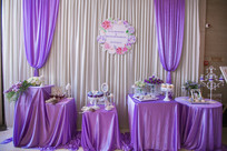 新婚紫白场景布置