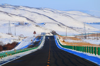 雪野雪山公路