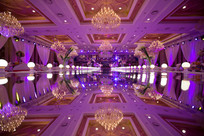 紫色新婚布置