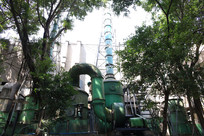 工厂里的大型排风系统
