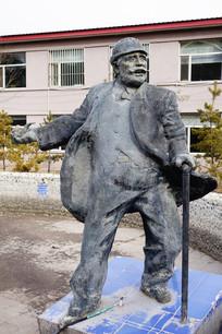 外国老人雕塑