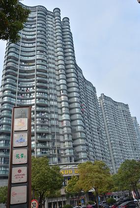 萧山城区高楼建筑