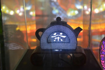 半月茶壶彩灯模型