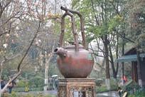 雕塑巨型茶壶