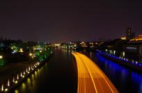 护城河游船延时摄影光线
