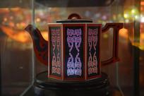 六面文字茶壶彩灯模型