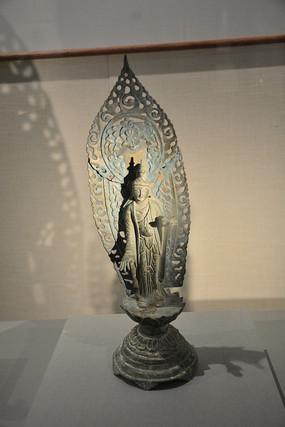 文物铜大势至菩萨立像