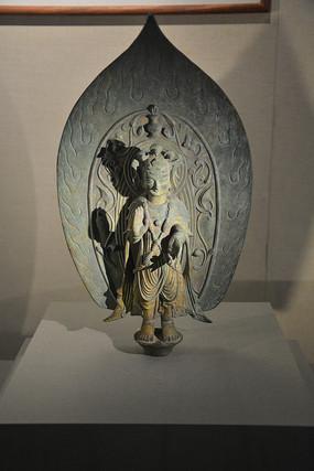 文物铜大势至菩萨像