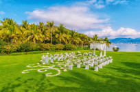 草坪海边婚席