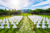 户外大型草坪婚礼