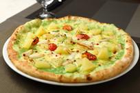 蟹肉绿咖喱风味披萨