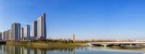 郑东新区如意湖全景