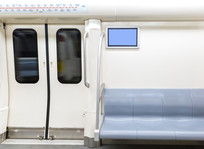 灰色地铁座椅