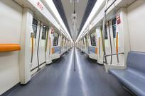 空无一人的地铁车厢
