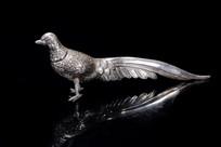 清代纯银制鸟摆件