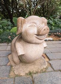 生肖猪雕刻