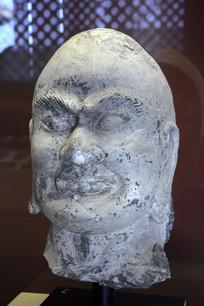 宋代石雕罗汉头像