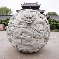 中国龙圆球雕塑