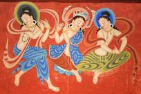 敦煌壁画-伎乐菩萨