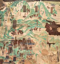 法华经变化城喻品壁画