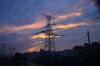 高压电线杆线