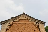河南林州农村土坯墙青砖房