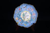 清晚期铜胎画珐琅赏盘