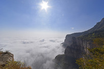 太行山云海升腾的壮美风景