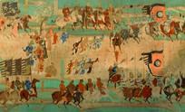 敦煌壁画之张议潮统军出行图