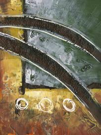 简约风格抽象油画装饰画