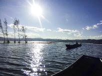 丽江拉市海游船水上风光