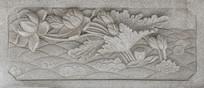 千山大佛寺释迦牟尼舍利塔围栏壁雕之莲花荷叶
