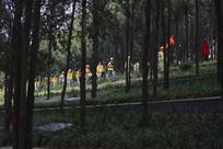 清明时节的烈士陵园