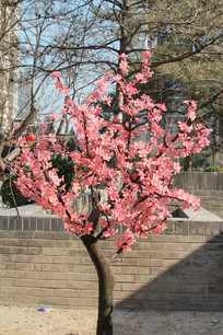 塑料梅花树
