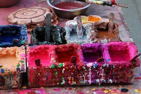 颜料调色盒