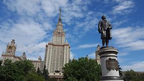 莫斯科大学 主楼和雕像