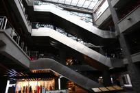 室内步行街的自动扶梯