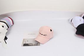 粉色小猫咪个性棒球帽