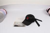 个性黑色玫瑰花棒球帽