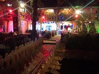 古镇景区夜间酒吧风采