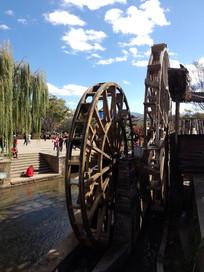 丽江古城著名景点水车